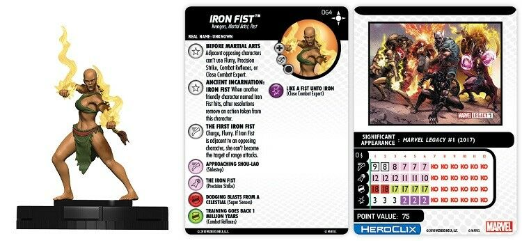 Marvel HeroClix Secret Wars  Battleworld IRON FIST CHASE - NEW
