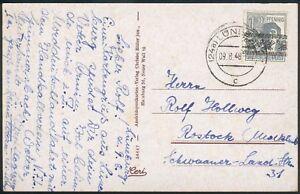 Alliierte-Besetzung-Postkarte-mit-Mi-Nr-40I-als-EF-Lueneburg-nach-Rostock-1948
