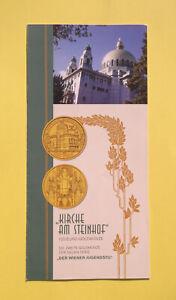"""Folder Flyer zur 100€ Gold Münze 2005 """"Kirche am Steinhof"""" Österreich"""