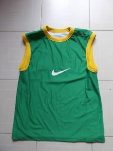 100% Vrai Nazionale Brasiliana 2002 Brasil Penta Campeao Nike Canottiera Calcio Jersey