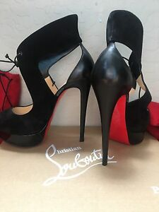Louboutin Heels Size 37 5 7 1 2 Red Bottoms Authentic Real Ebay
