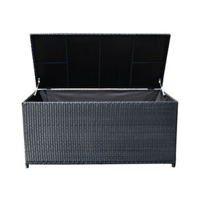 Charmant Image Is Loading 64 034 LARGE Resin Wicker BLACK Storage Box