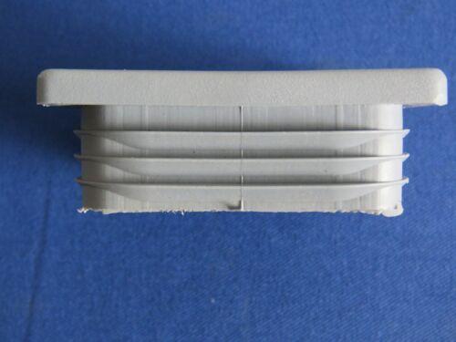 1 x Lamellenstopfen für Rechteckrohr grau 60 x 60 mm Abdeckkappen Endkappe PE//LD