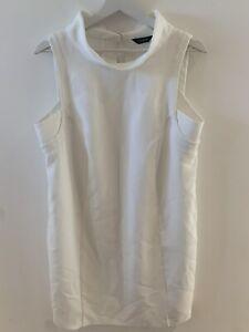 WHITE-MINI-SHIFT-DRESS-14-M-amp-S-CLASSY-WORK-SUMMER-HOLIDAY-SMART-PRETTY-GLAM-CHIC