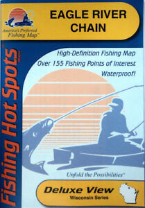 Waterproof #M291 GPS Points Lake Erie Bass Islands Area Detailed Fishing Map