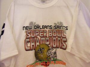 official photos ef818 35f46 Details about New Orleans Saints Super Bowl Champions XLIV Size Man XL Shirt