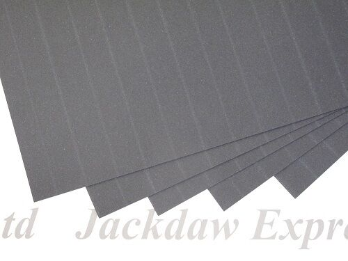 25 x Grey Pinstripe Cloth Paper 100gsm A4 for Cardmaking Arts /& Crafts AM266