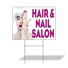 Weatherproof Yard Sign Hair Amp Nail Salon A Advertising Printing Lawn Garden