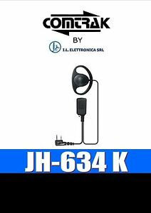 JH-634 K AURICOLARE/MICROFONO CON PTT STAGNO TIPO KENWOOD/BAOFENG/WOUXUN 333031