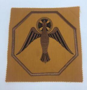 Vintage-Espiritu-Santo-Paloma-Bordado-Naranja-Emblema-Cristo-Parche-1PC
