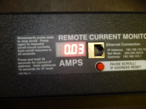 50//60Hz 125VAC NEW Geist LME-102STS-10ST5S Ethernet Remote Current Monitor 16A