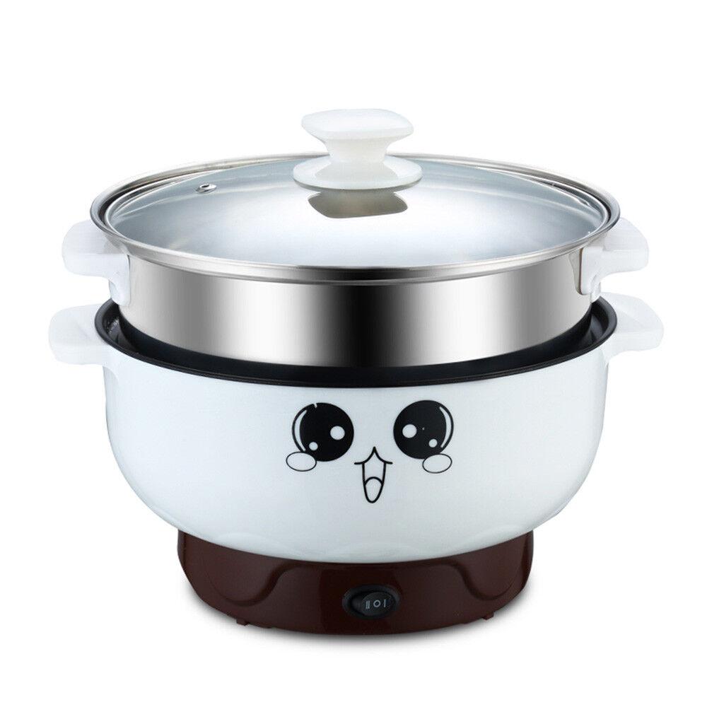 2L-3L en Acier Inoxydable Cuisinière électrique avec Steamer Hot Pot Cuiseur à Riz Soupe Pot