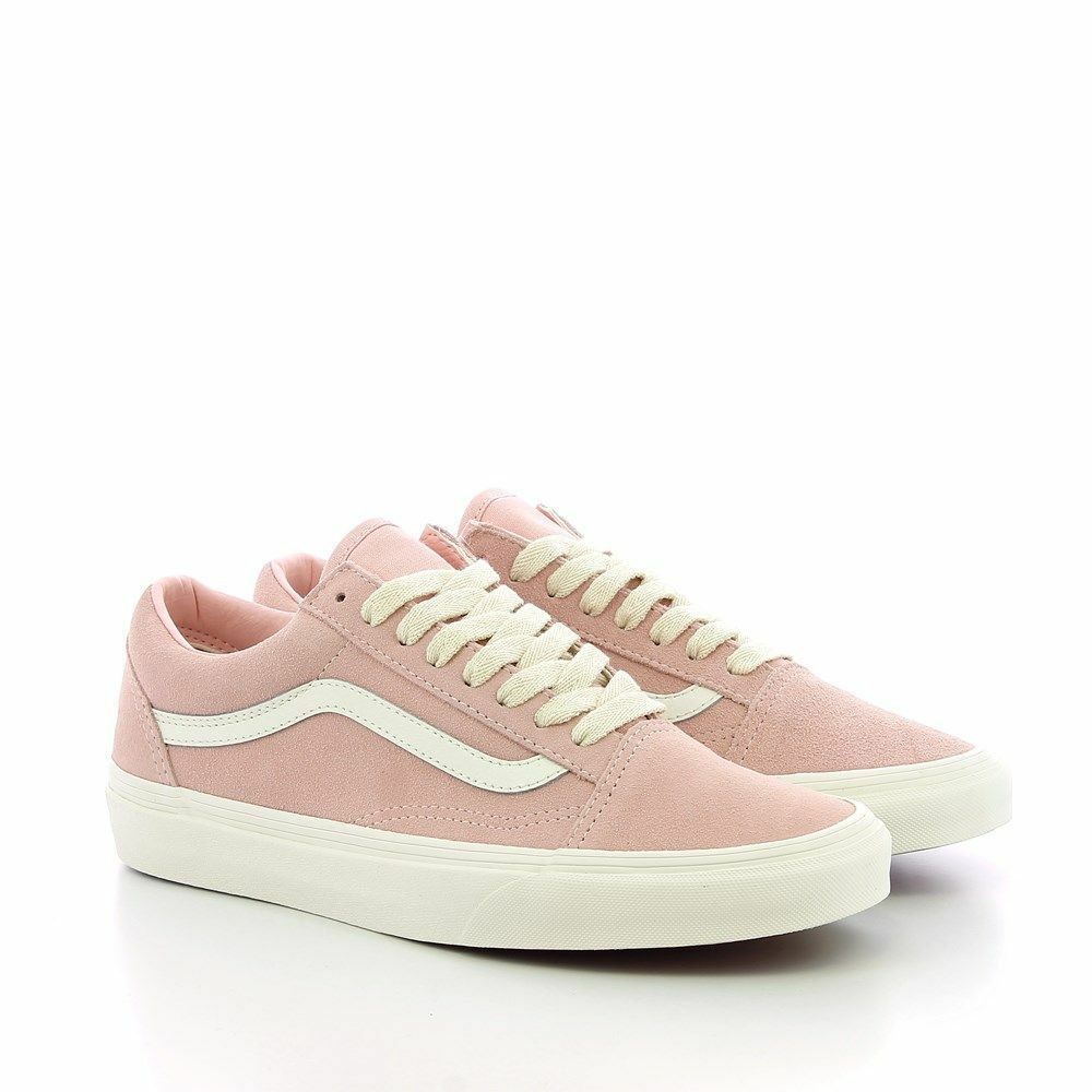 Vans Unisex Old Skool Herringbone Lace Pink White Suede Skate Shoes VN0A38G1QSK Seasonal price cuts, discount benefits
