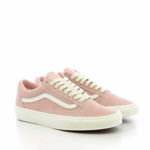 101f34d7172c Vans Unisex Old Skool Herringbone Lace Pink White Suede Skate Shoes ...
