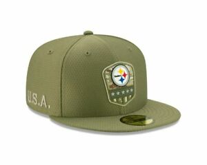 New-Era-NFL-PITTSBURGH-STEELERS-Salute-to-Service-2019-Sideline-59FIFTY-Game-Cap