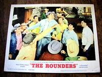 THE ROUNDERS Original WESTERN FIGHTING Lobby Card GLENN FORD HENRY FONDA