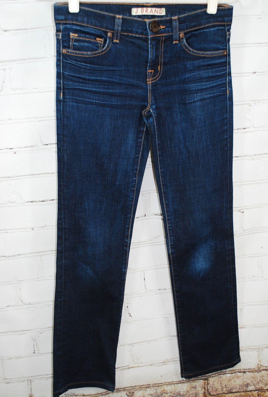J BRAND bluee Dark Wash INK The Cigarette Leg Straight Jeans Size 25