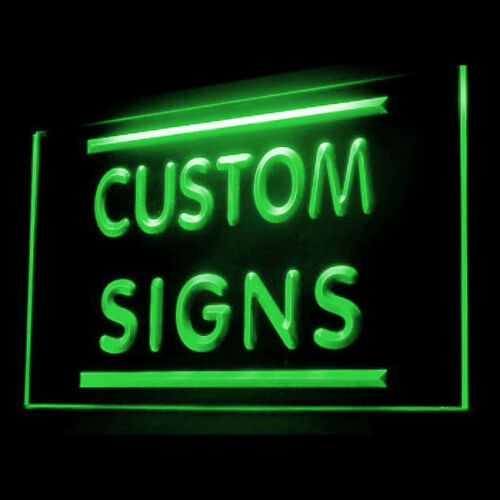 Your Text Personalized Barber Hair Cut Salon Display LED Light Sign 60 by 30 CM