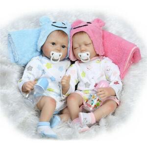 22-034-Handmade-Soft-Body-Lifelike-Twins-Silicone-Reborn-Girl-Babies-Doll-XMAS-Gift