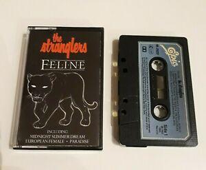 THE-STRANGLERS-FELINE-CASSETTE-TAPE-1982-BLUE-PAPER-LABEL-EPIC-CBS-UK