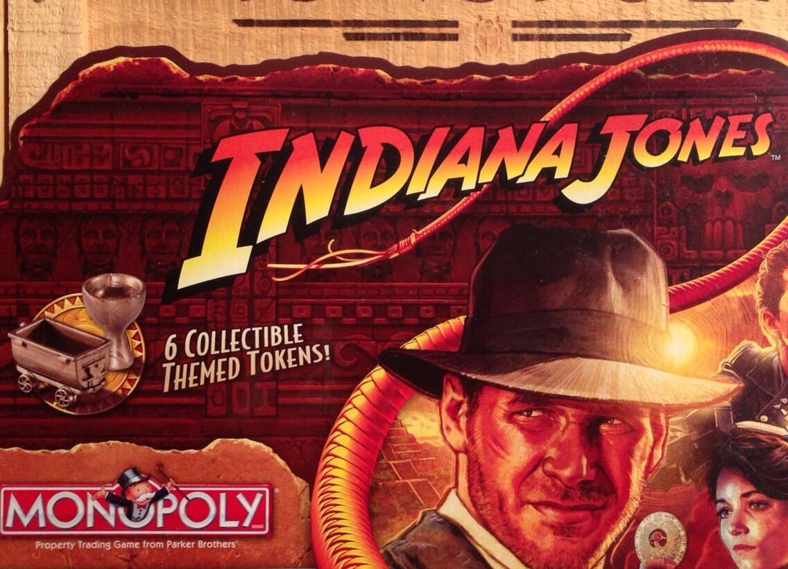 Hasbro Parker Bredhers MONOPOLY Indiana Jones Numbered Ed in Wooden Wooden Wooden Case NISB 05bfc9