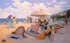 Victorian Print A Day At The Beach by Christa Kieffer