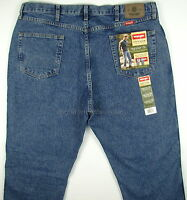 Wrangler Jeans Mens Regular Fit - Dark Stonewash Size 42 X 30 Straight Leg