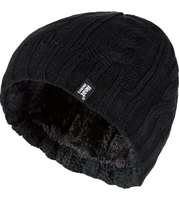 HEAT HOLDERS HAT Women's Thermal Fleece Cable Knit Winter 4.7 TOG Plush Lining