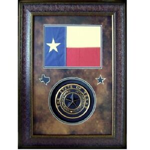 Image Is Loading Texas Flag Amp Seal Western Wall Art