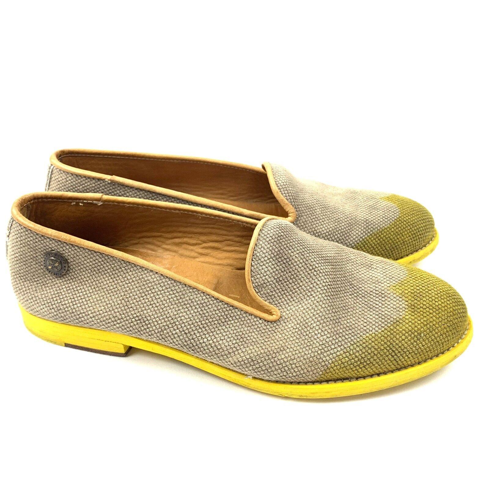 Verba punta del ala Mocasines con suela de Color Color Color amarillo para mujer Talla 40 Slip On Hecho en Italia  punto de venta de la marca