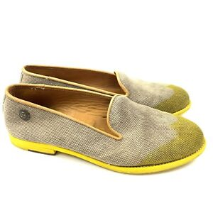 Verba-Wingtip-Loafers-with-Yellow-Soles-Womens-Size-40-Slip-On-Made-in-Italy
