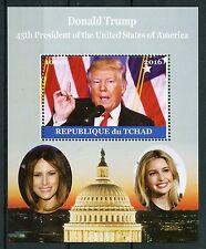 Chad 2016 estampillada sin montar o nunca montada Donald Trump Melania 1v m/s presidentes de sellos de Estados Unidos