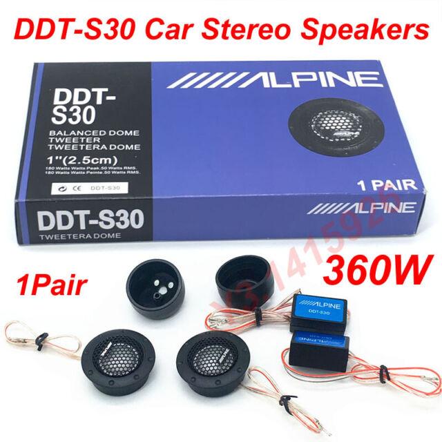 ALPINE DDT-S30 360W Car Stereo Speaker Music Soft Dome Balanced Car Tweeters New