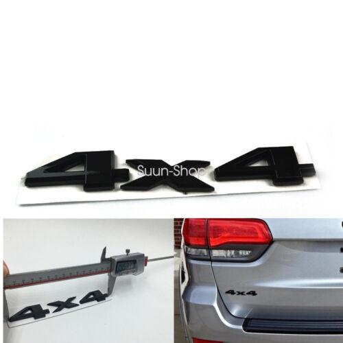 Auto Car Motor Black ABS 4 x 4 4X4 3D Rear Emblem Decal Badge Sticker JEEP