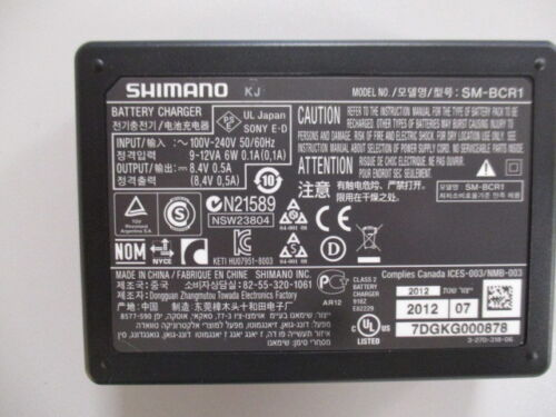 Shimano sm-bcr1 Battery Charger Caricabatteria p72