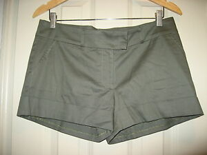 ceade9bb1bbc NEW w tags AQUA BLOOMINGDALES Olive Green Comfy Summer Dress Shorts ...