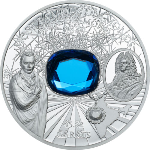 HiRe minted 2 oz Silver Proof  Coin $10 2016 Cook Islands The Hope Diamond