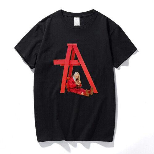 Billie Eilish T Shirt Streetwear Rundhals Herren Damen Unisex Baumwolle