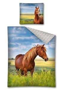 Copripiumino Singolo Con Cavalli.Cavallo Marrone Horse Riding Lenzuola Copripiumino 140 E 160x200
