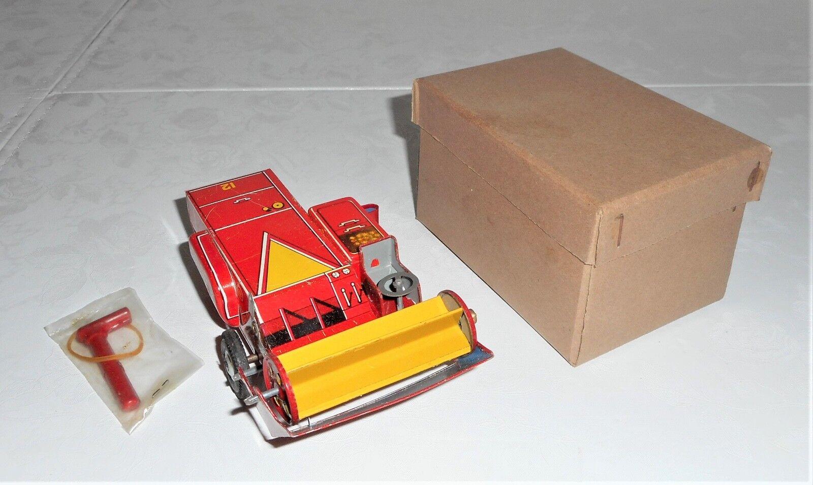 Marx Tin Japan Co-Op Vintage Toy Tractor Combine