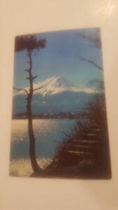 Mount-Fuji-Japan-Nippon-1950-039-s-Postcard-Lake-p7