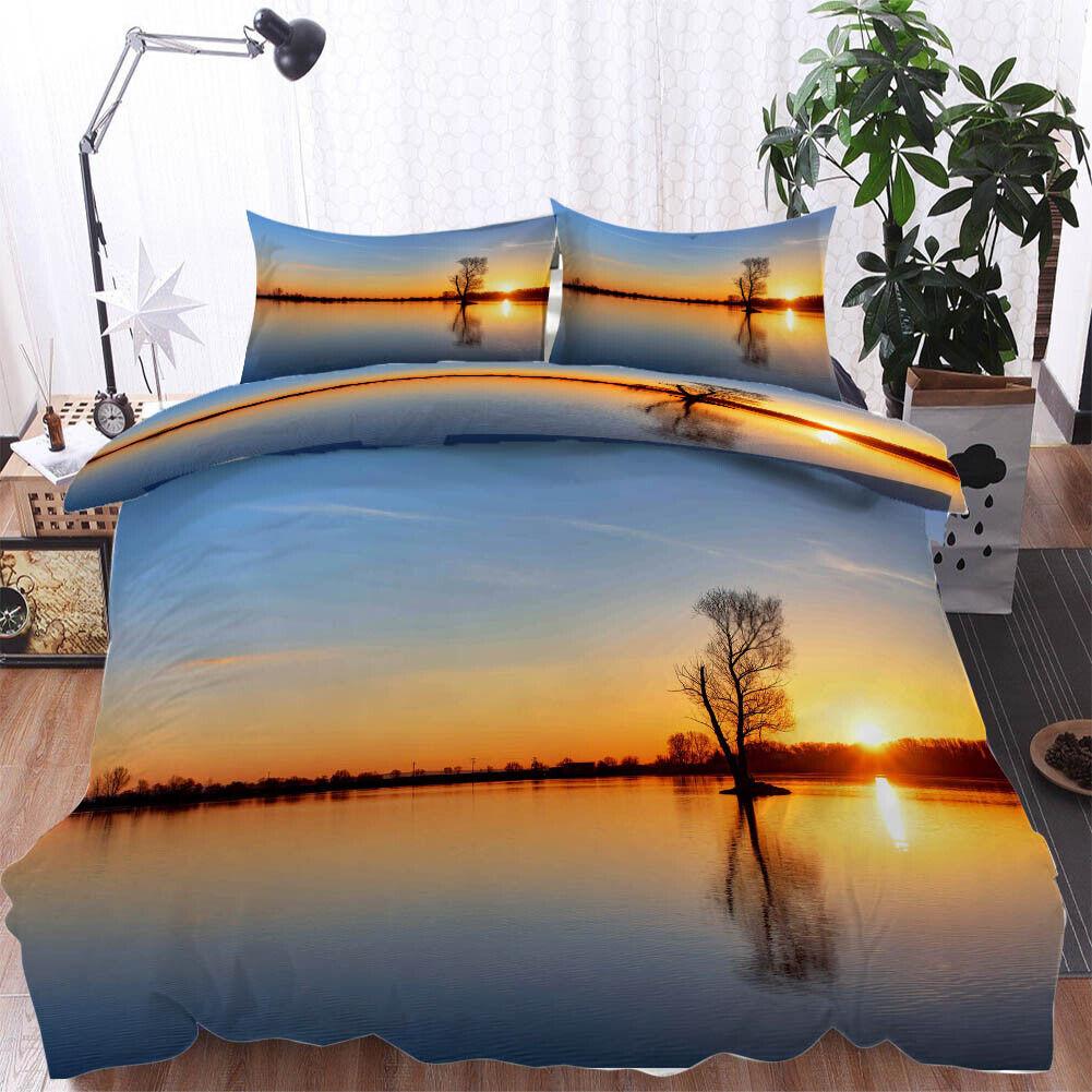 Sun Renders Lake 3D Printing Duvet Quilt Doona Covers Pillow Case Bedding Sets