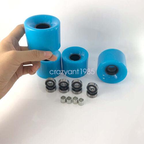 Details about  /Skateboard Wheels Set Blue 60*45mm 8pcs Black ABEC-9 Bearing 4pcs Spacer