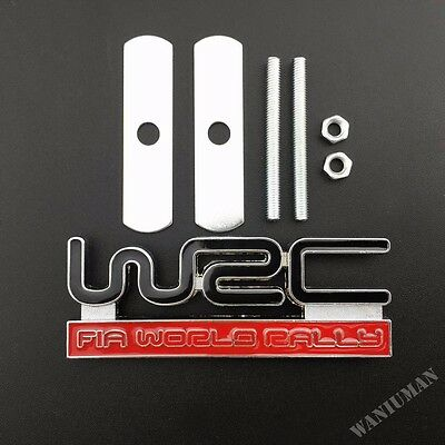 Metal Chrome WRC World Rally Championship Car Metal Emblems Badge Decal Sticker