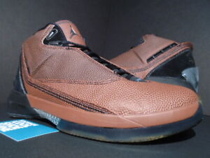 df5cddd1c06 07 NIKE AIR JORDAN XX2 XXII 22 SPALDING BASKETBALL LEATHER BROWN ...