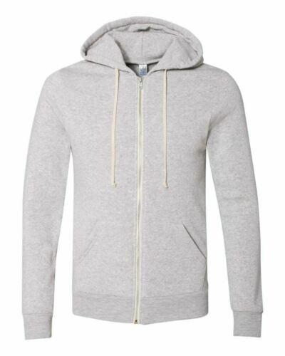Alternative Eco Fleece Rocky Hooded Full Zip Up Sweatshirt Mens Hoodie New 9590