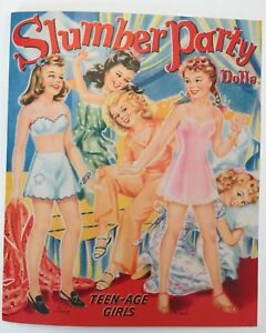 5 young teens and adorable retro outfits! SLUMBER PARTY PAPER DOLLS