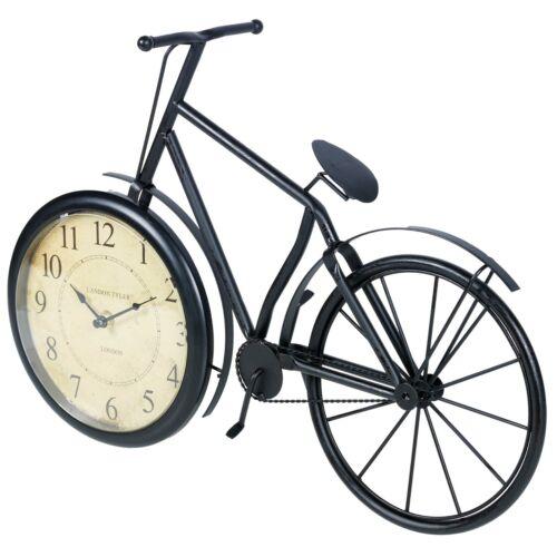 Métal Noir Vélo Décoratif Quartz Bureau Horloge temps Ornement Bureau Chambre À Coucher