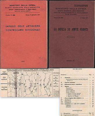 MINISTERO DELLA DIFESA-IMPIEGO DELLE ARTIGLIERIE-DIFESA SU AMPIE FRONTI-1951