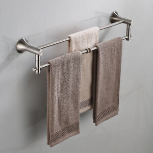 Bathroom Towel Rail Bar Holder Rack Hanging Shelf  Wall Mounted Towel Racks